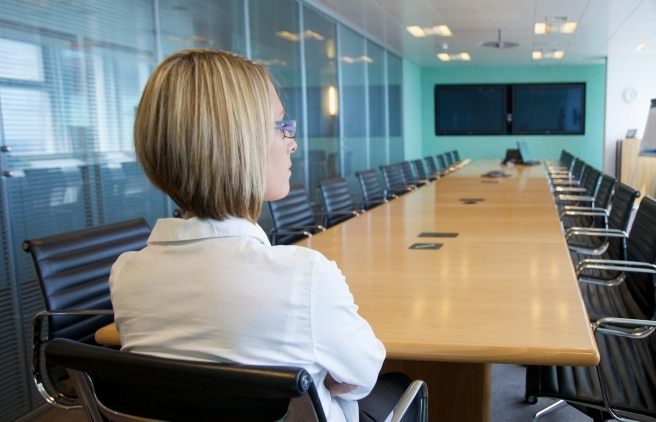 woman in boardroom